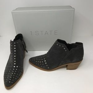 1. State Loka Suede Studded Ankle Boots Shoes 8M